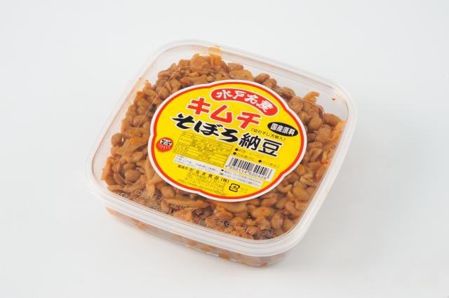 キムチそぼろ納豆