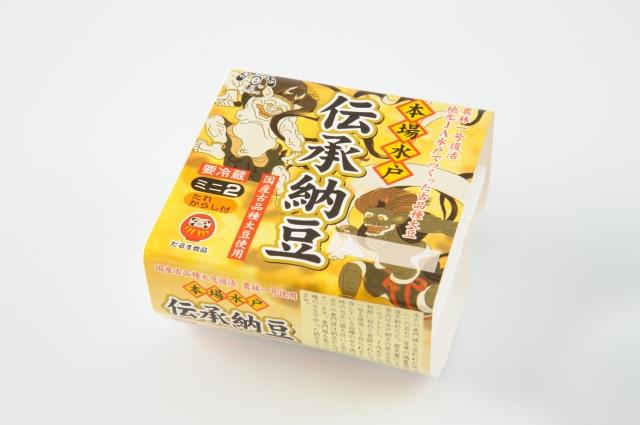 こだわりの日本最古品種大豆「農林一号」使用 伝承納豆