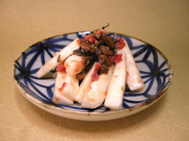 梅ひじき水戸納豆と長芋の梅和え