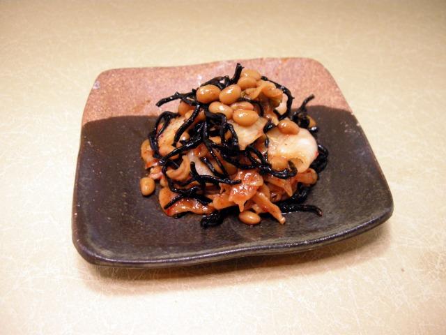 キムチそぼろ納豆とひじきのWキムチナムル